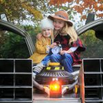 ****NO FEE PIC****  28/10/2016  Don't forget to turn the clocks back!  (L to R) Maisie Smyth (3) from Edenderry & Annabelle Smith (6) from Swords and the famous Delorean Time Machine as a new Solus survey reveals that 63% are not in favour of 'daylight saving' and romance also gets the cold shoulder as only a mere 1% will look forward to romance and candlelit cuddles!  35% will feel glum, 8% downright grumpy and 10% completely indifferent.  Not everyone dreads the long evenings as 28% cited contentment with cozy nights in by the fire, 9% will even be excited as Christmas is just around the corner and 4% will be confused – what time is it now? As the clocks go back in the early hours of Sunday October 30th at 2am, it marks 100 years since the concept of 'daylight saving' was introduced in Ireland under British rule. Photo: Gareth Chaney Collins