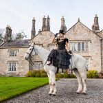 Caption:  (29/08)  Vogue Williams pictured at the launch of Irish Designer Catriona Hanly's Autumn Winter 16'17 Collection at Lough Rynn Castle in County Leitrim.  Photo by Alexandria Hall