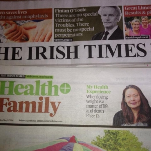 Sue Front Page Irish Times Feature