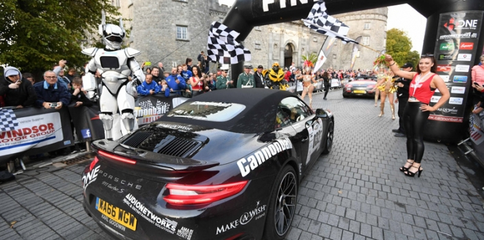 Kilkenny went Car-azy for Cannonball with Spectacular finish line for 2017