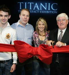 Opening of Titanic the Artefact Exhibition at City West