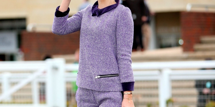 Vogue Williams raised the style stakes at Cheltenham with opulent tweed by Irish designer Catriona Hanly